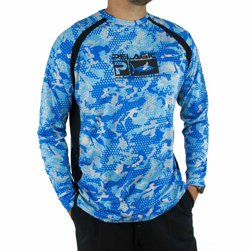 ペラジック Pelagic メンズ トップス 【Vaportek Long Sleeve Shirt】Blue