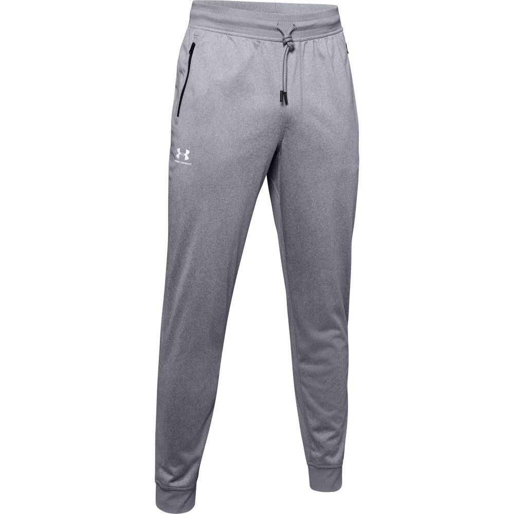 アンダーアーマー Under Armour メンズ ジョガーパンツ ボトムス・パンツ【Sportstyle Joggers (Regular and Big & Tall)】Steel Light Heather/White