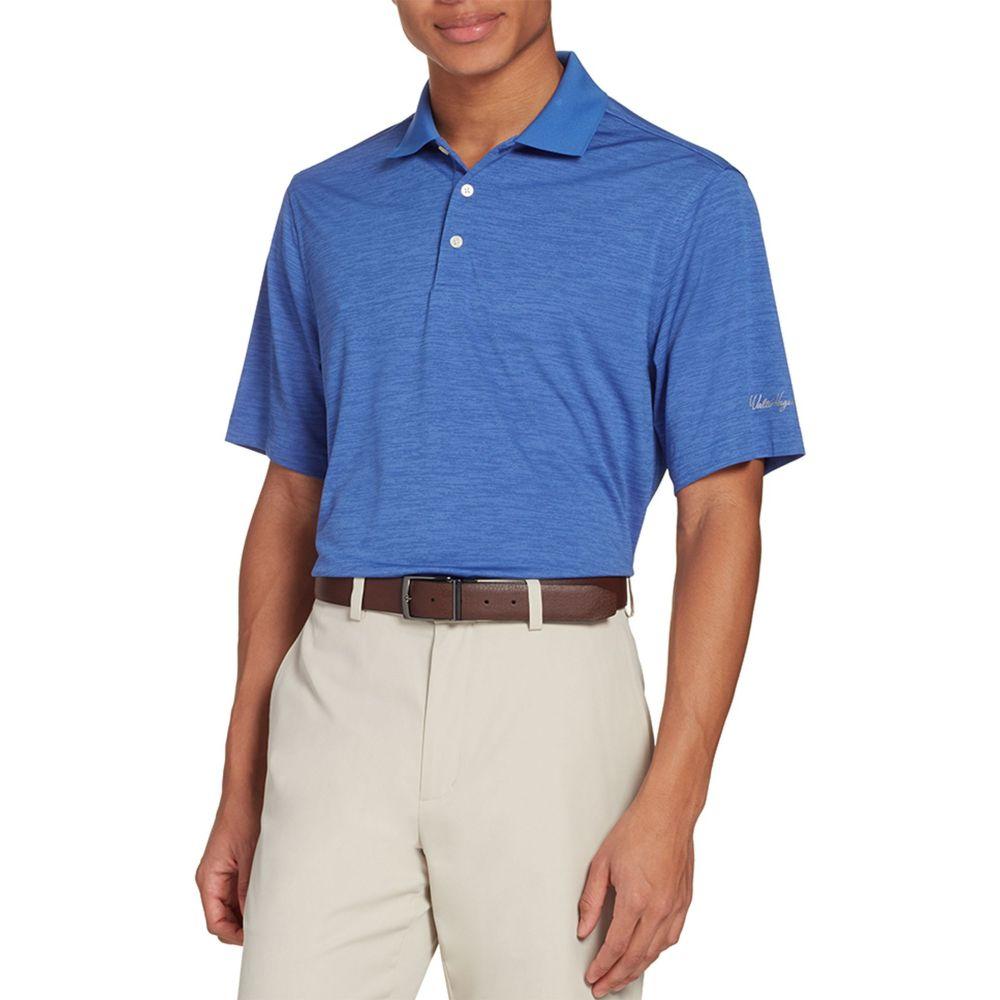 ウォルターヘーゲン Walter Hagen メンズ ゴルフ ポロシャツ トップス【Core Space Dye Golf Polo】Blueberry Pie