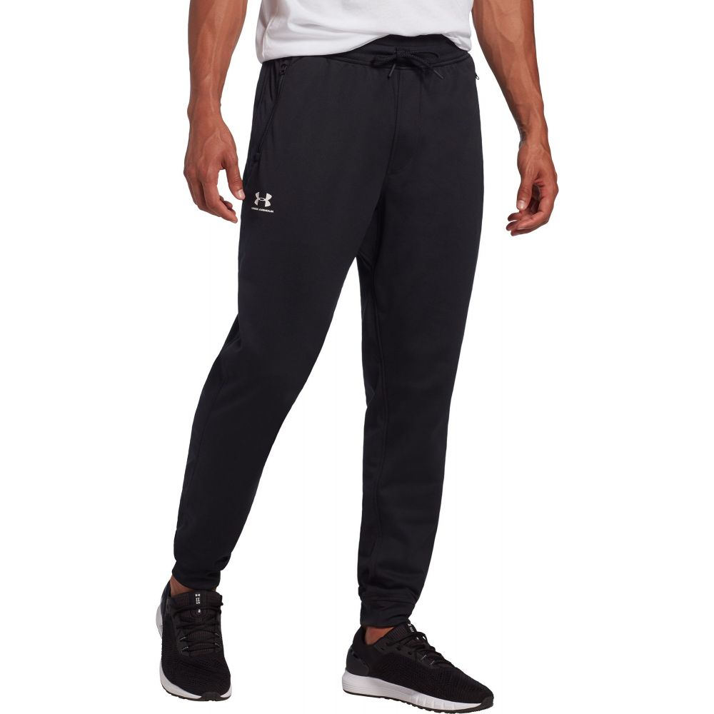 アンダーアーマー Under Armour メンズ ジョガーパンツ ボトムス・パンツ【Sportstyle Joggers (Regular and Big & Tall)】Black/White