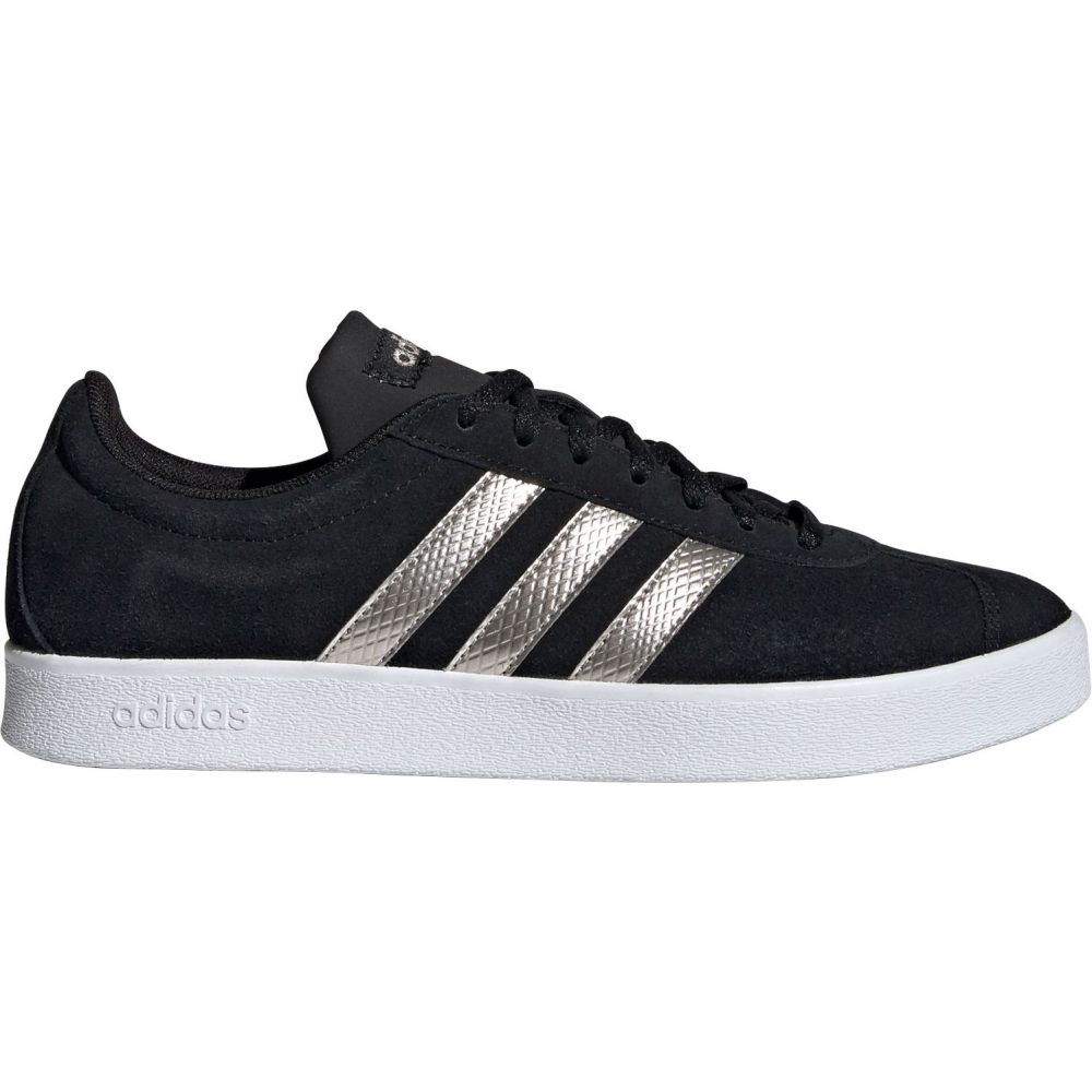 アディダス adidas レディース スニーカー シューズ・靴【VL Court 2.0 Shoes】Black/Platinum/White