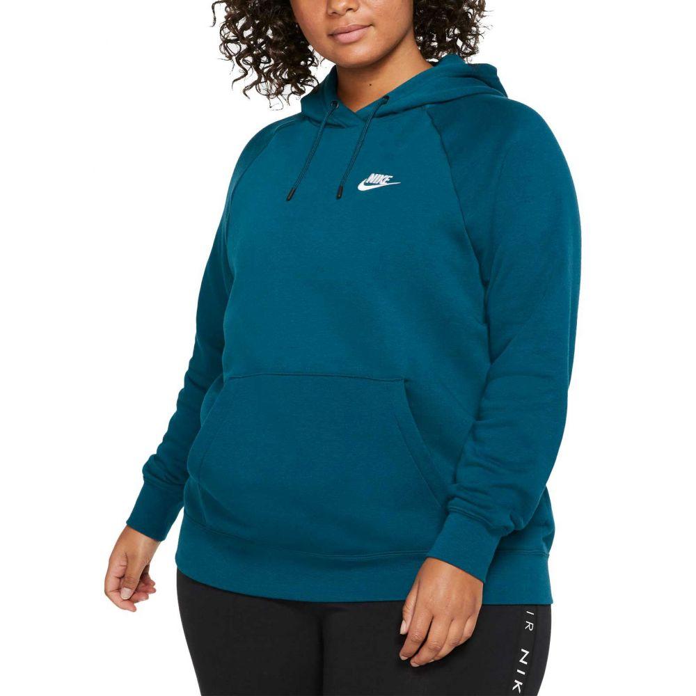 ナイキ Nike レディース パーカー 大きいサイズ トップス【Plus Size Sportswear Essential Fleece Pullover Hoodie】Midnight Turq