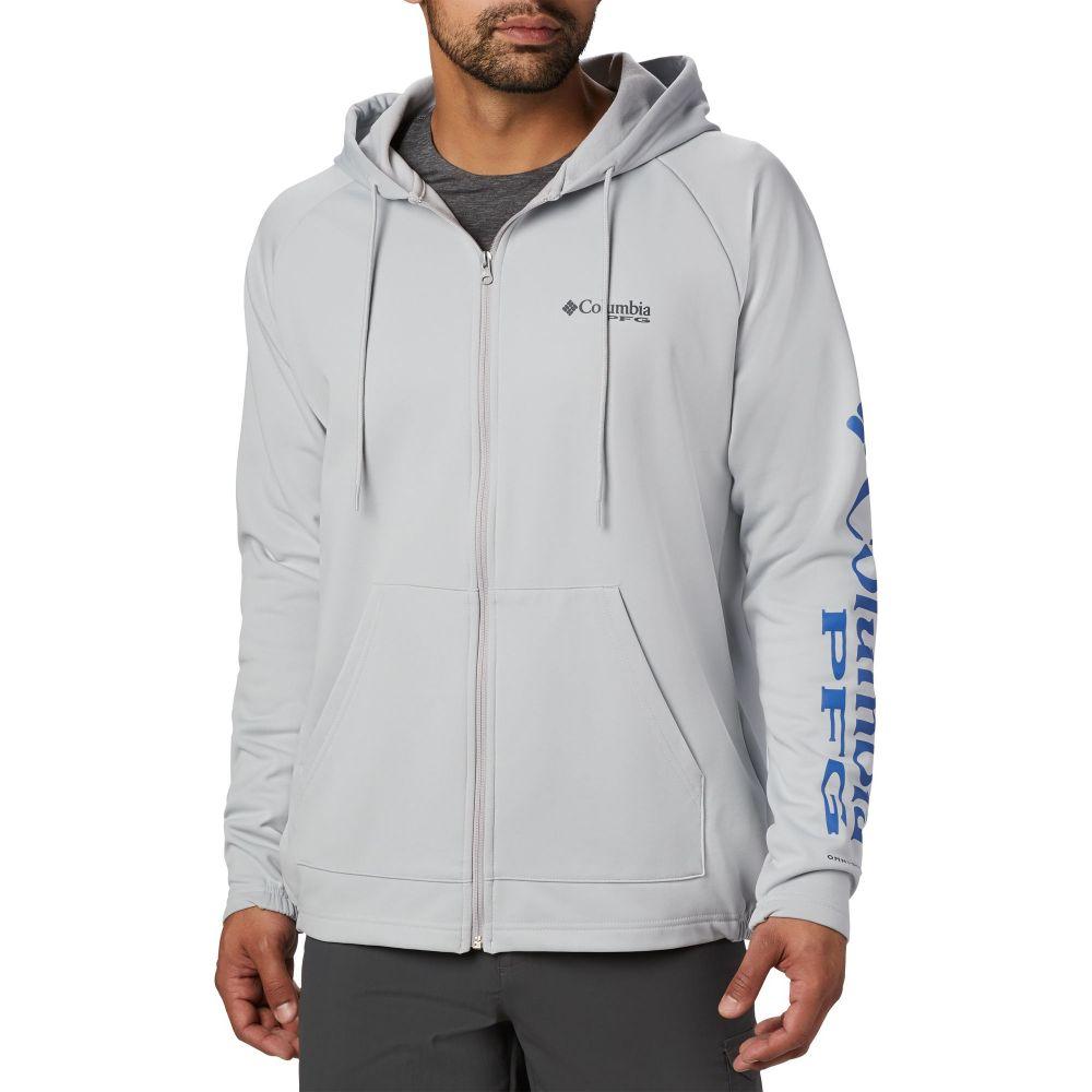 コロンビア Columbia メンズ フリース トップス【Terminal Tackle Fleece Full Zip Hoodie】Cool Grey/Vivid Blue Logo