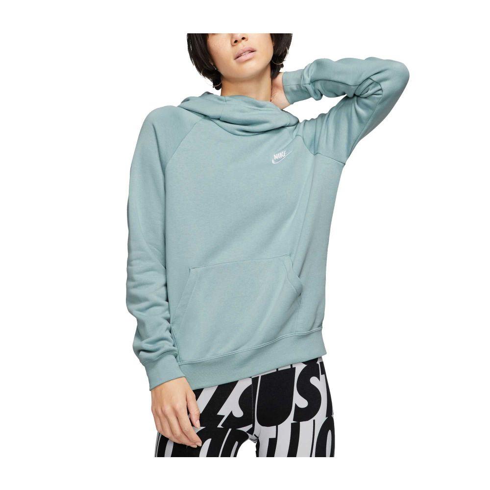 ナイキ Nike レディース パーカー トップス【Sportswear Essential Funnel Neck Fleece Hoodie】Ocean Cube