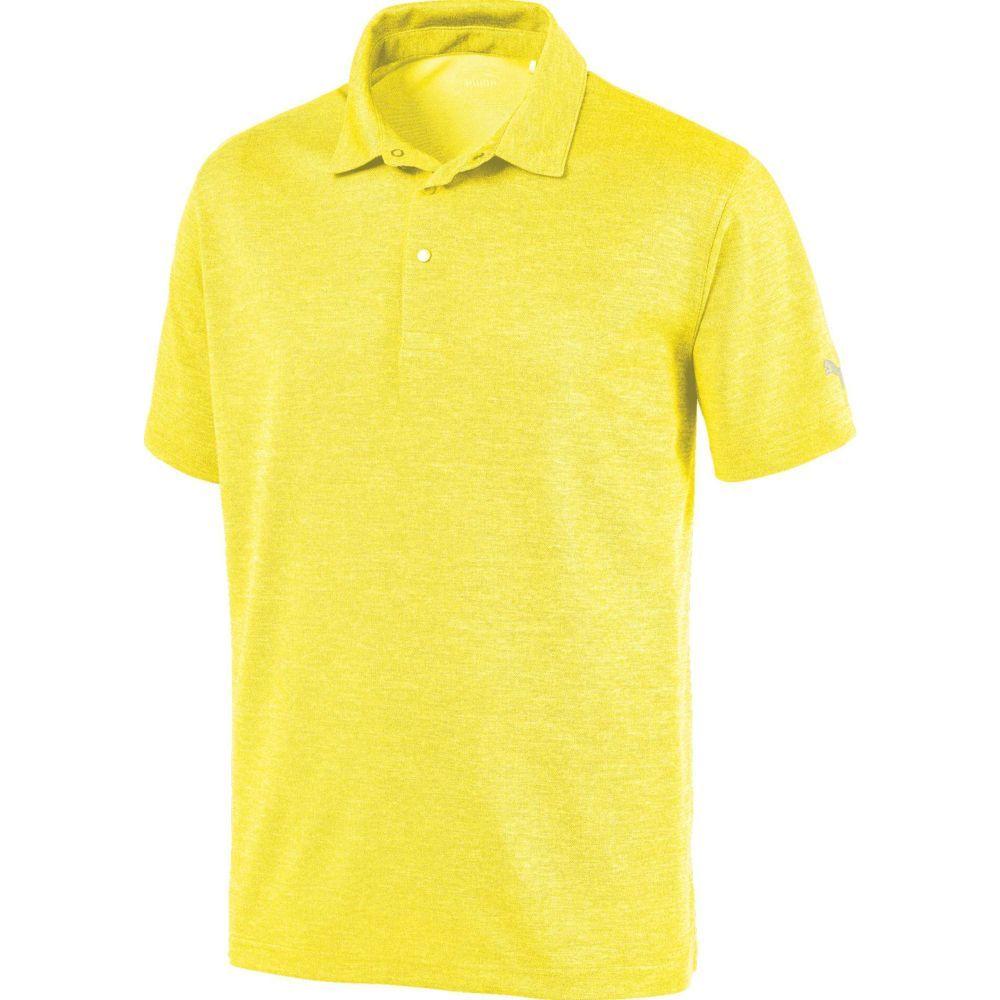 プーマ PUMA メンズ ゴルフ ポロシャツ トップス【Grill to Green Golf Polo】Blazing Yellow Heather
