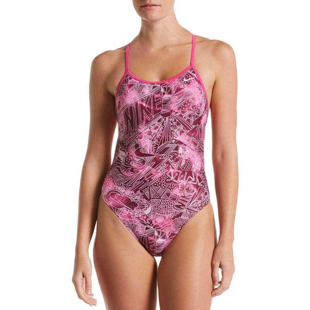 ナイキ Nike レディース ワンピース 水着・ビーチウェア【Doddle Crossback Cut-Out One Piece Swimsuit】Laser Fuchsia