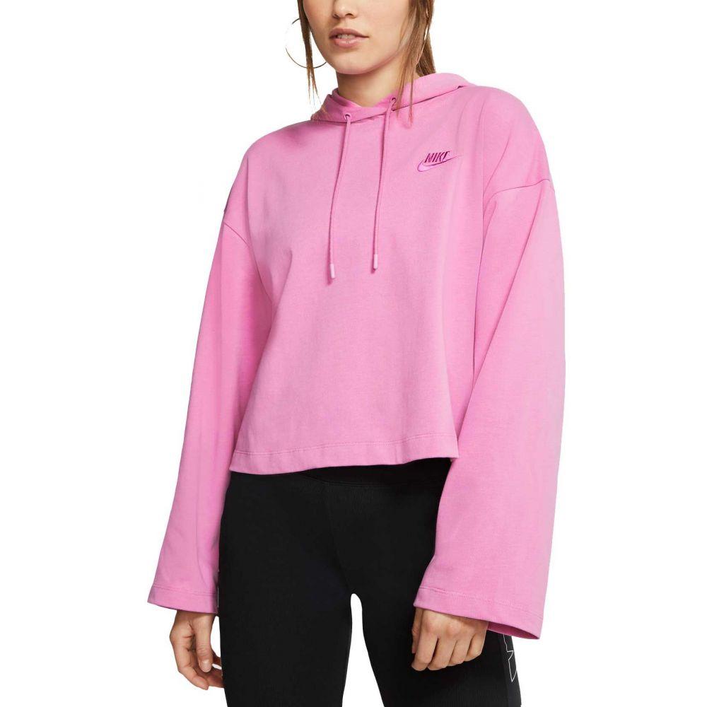 ナイキ Nike レディース パーカー トップス【Sportswear Jersey Hoodie】Magic Flamingo