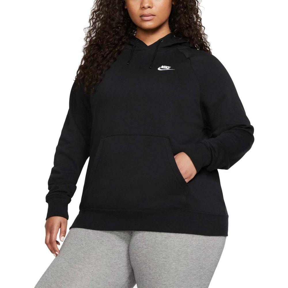 ナイキ Nike レディース パーカー 大きいサイズ トップス【Plus Size Sportswear Essential Fleece Pullover Hoodie】Black