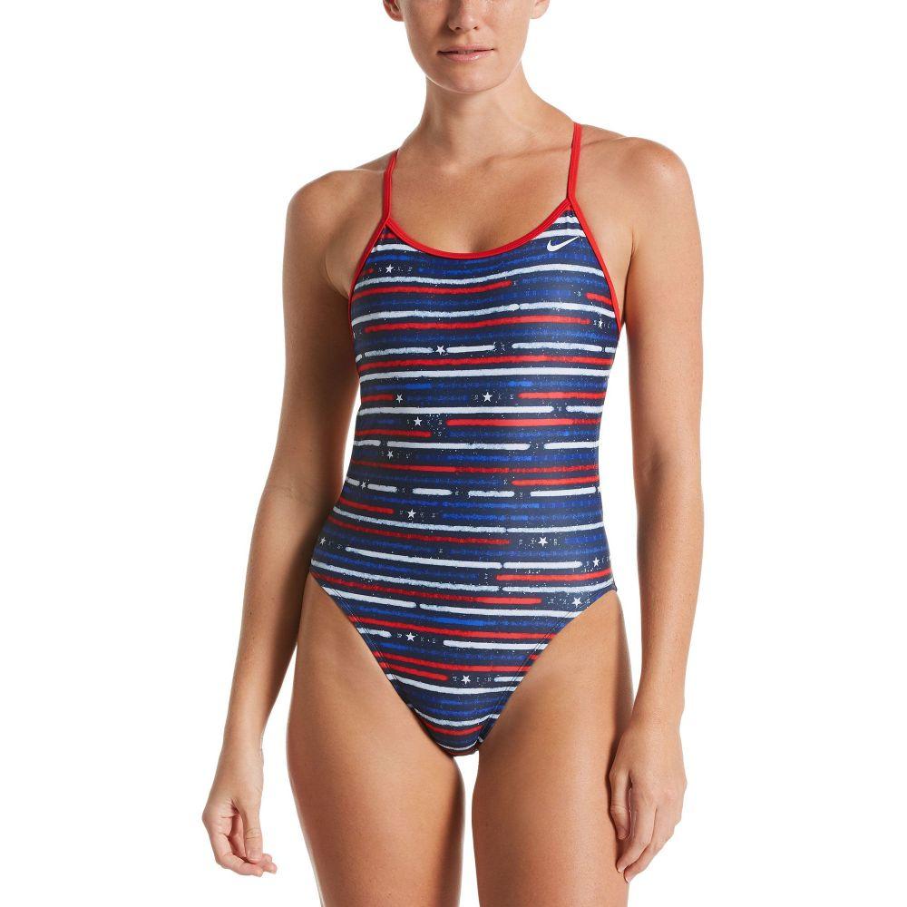 ナイキ Nike レディース ワンピース 水着・ビーチウェア【Americana Cut-Out Tie Back One Piece Swimsuit】University Red