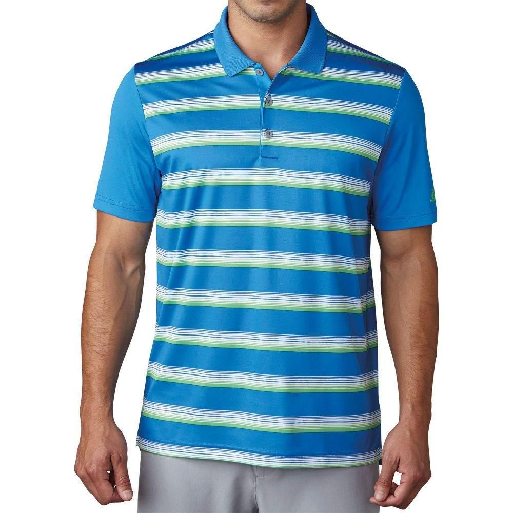 アディダス メンズ ゴルフ トップス 【サイズ交換無料】 アディダス adidas メンズ ゴルフ ポロシャツ トップス【Advantage Stripe Golf Polo】Blast Blue