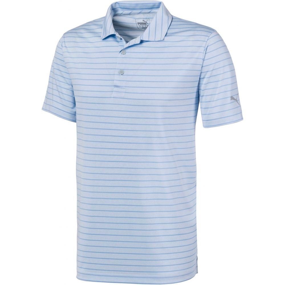プーマ PUMA メンズ ゴルフ ポロシャツ トップス【Rotation Stripe Golf Polo】青 Bell