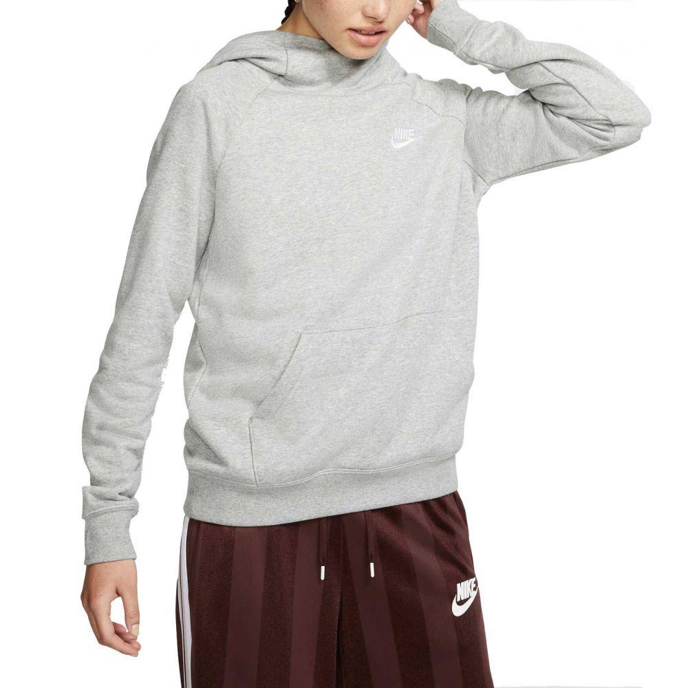 ナイキ Nike レディース パーカー トップス【Sportswear Essential Funnel Neck Fleece Hoodie】Dk Grey Heather