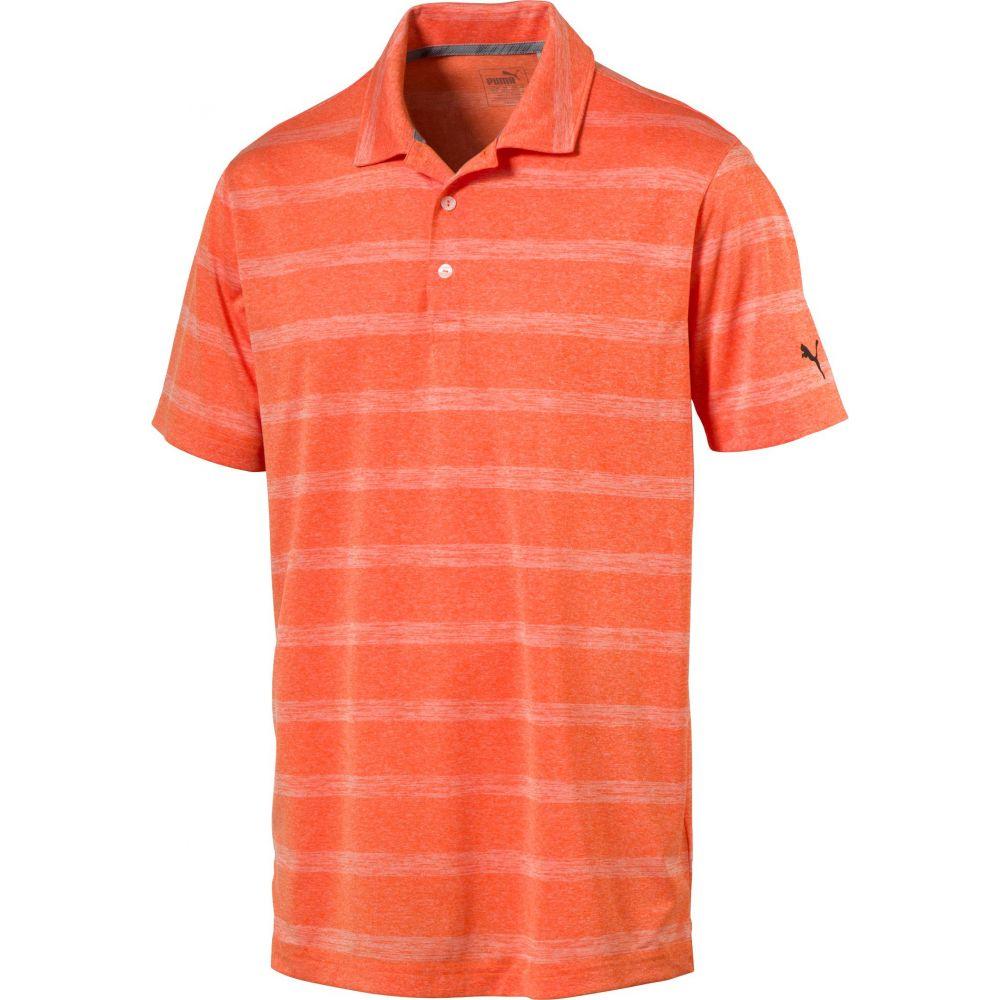 プーマ メンズ ゴルフ トップス 【サイズ交換無料】 プーマ PUMA メンズ ゴルフ ポロシャツ トップス【Pounce Stripe Golf Polo】Vibrant Orange