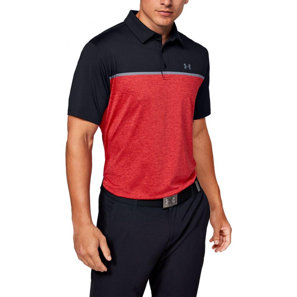 アンダーアーマー Under Armour メンズ ゴルフ ポロシャツ トップス【Playoff 2.0 Golf Polo】Black/Red