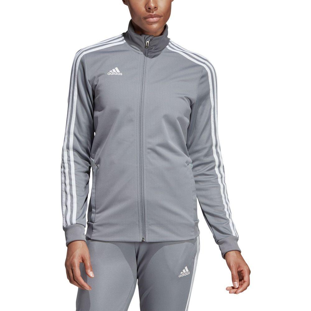 アディダス adidas レディース フィットネス・トレーニング ジャケット アウター【Tiro 19 Training Jacket】Grey