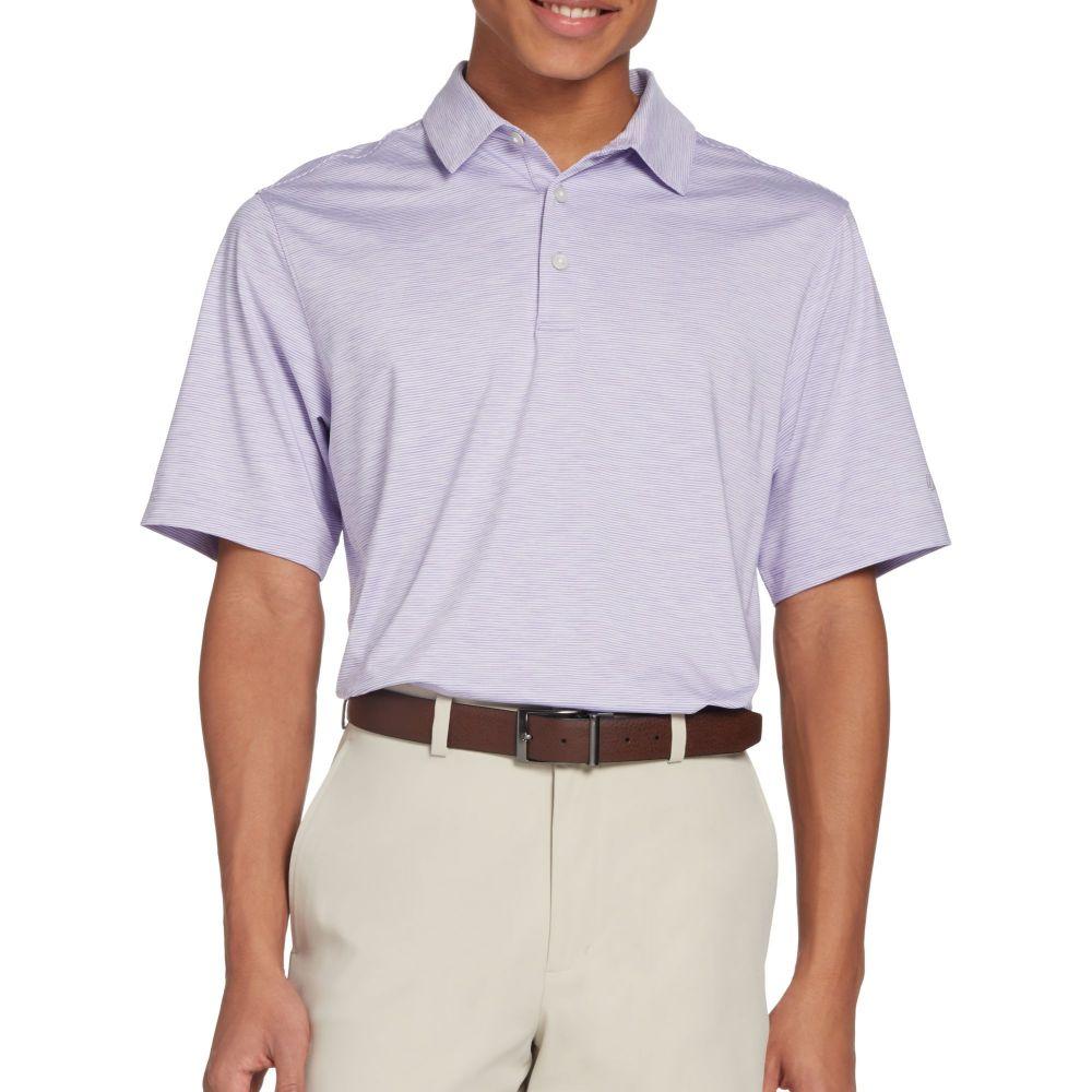 ウォルターヘーゲン Walter Hagen メンズ ゴルフ ポロシャツ トップス【11 Majors Championship Stripe Golf Polo】Bright Lavender