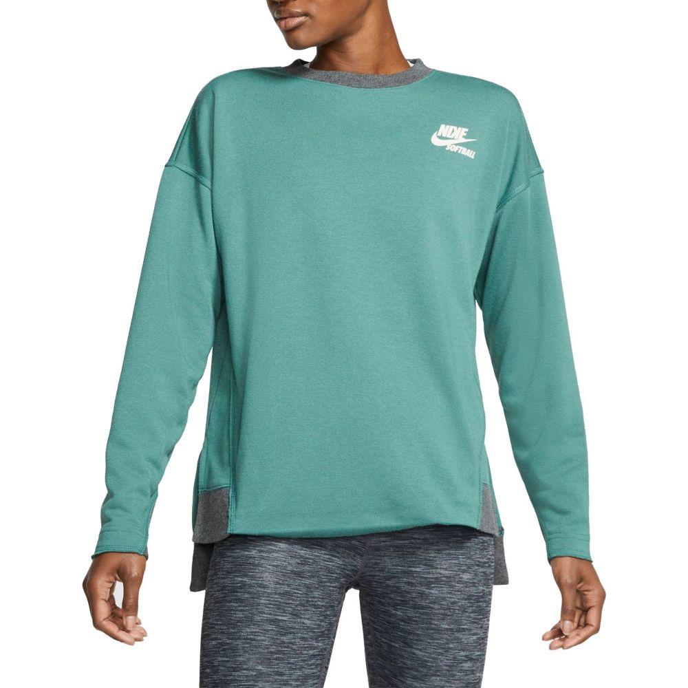 ナイキ Nike レディース 野球 トップス【Long-Sleeve Softball Crew Shirt】Green