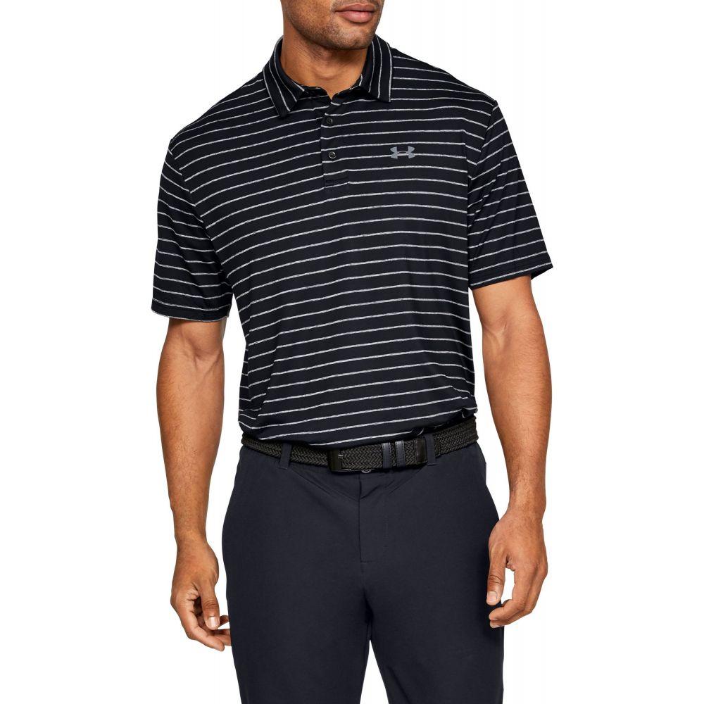 アンダーアーマー Under Armour メンズ ゴルフ ポロシャツ トップス【Playoff 2.0 Tour Stripe Golf Polo】Black/Pitch Gray