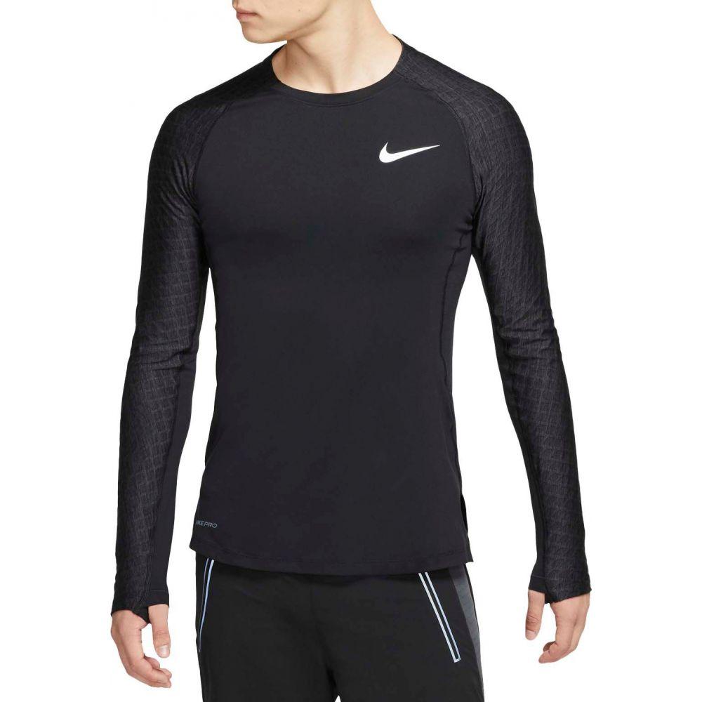 ナイキ Nike メンズ フィットネス・トレーニング トップス【Pro Training Long Sleeve Shirt】Black/Black/White