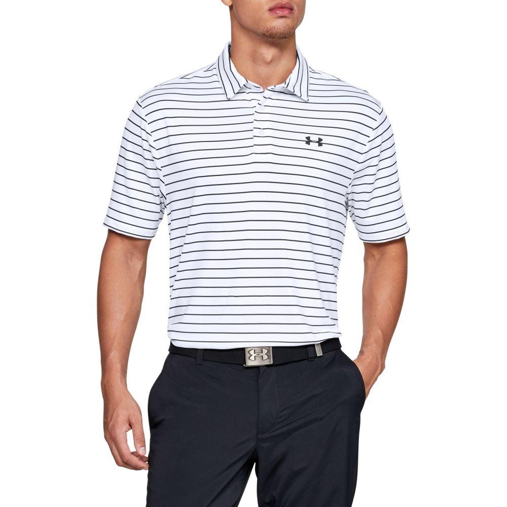 アンダーアーマー Under Armour メンズ ゴルフ ポロシャツ トップス【Playoff 2.0 Tour Stripe Golf Polo】White/Black/Pitch Gray