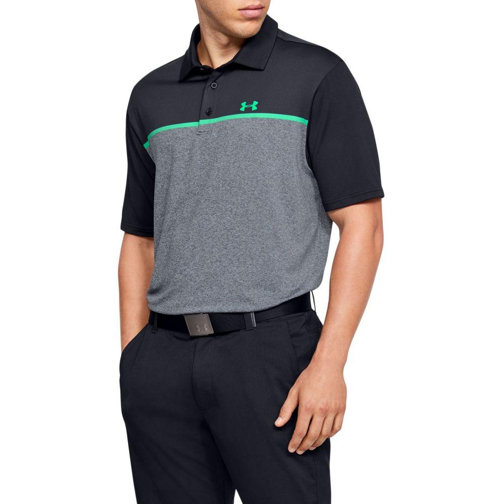 アンダーアーマー Under Armour メンズ ゴルフ ポロシャツ トップス【Playoff 2.0 Golf Polo】Black/Vapor Green