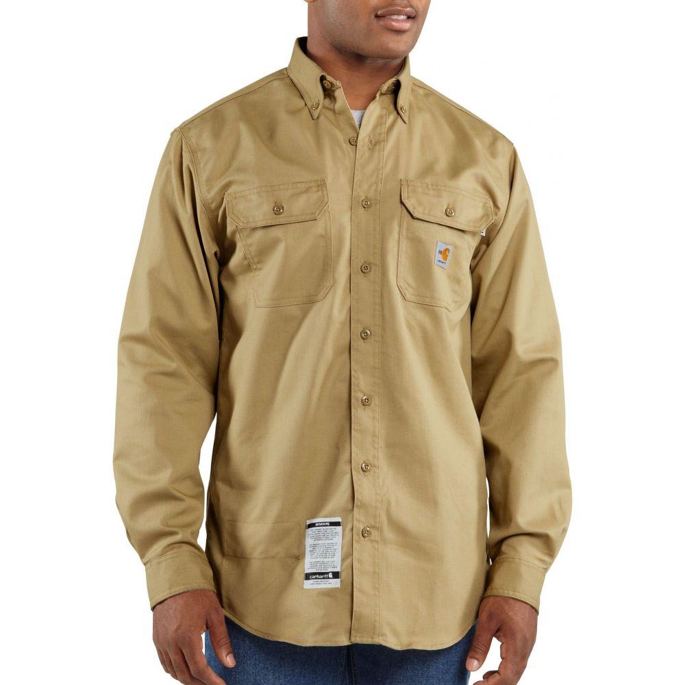カーハート Carhartt メンズ トップス 【Flame Resistant Twill Long Sleeve Work Shirt (Regular and Big & Tall)】Khaki