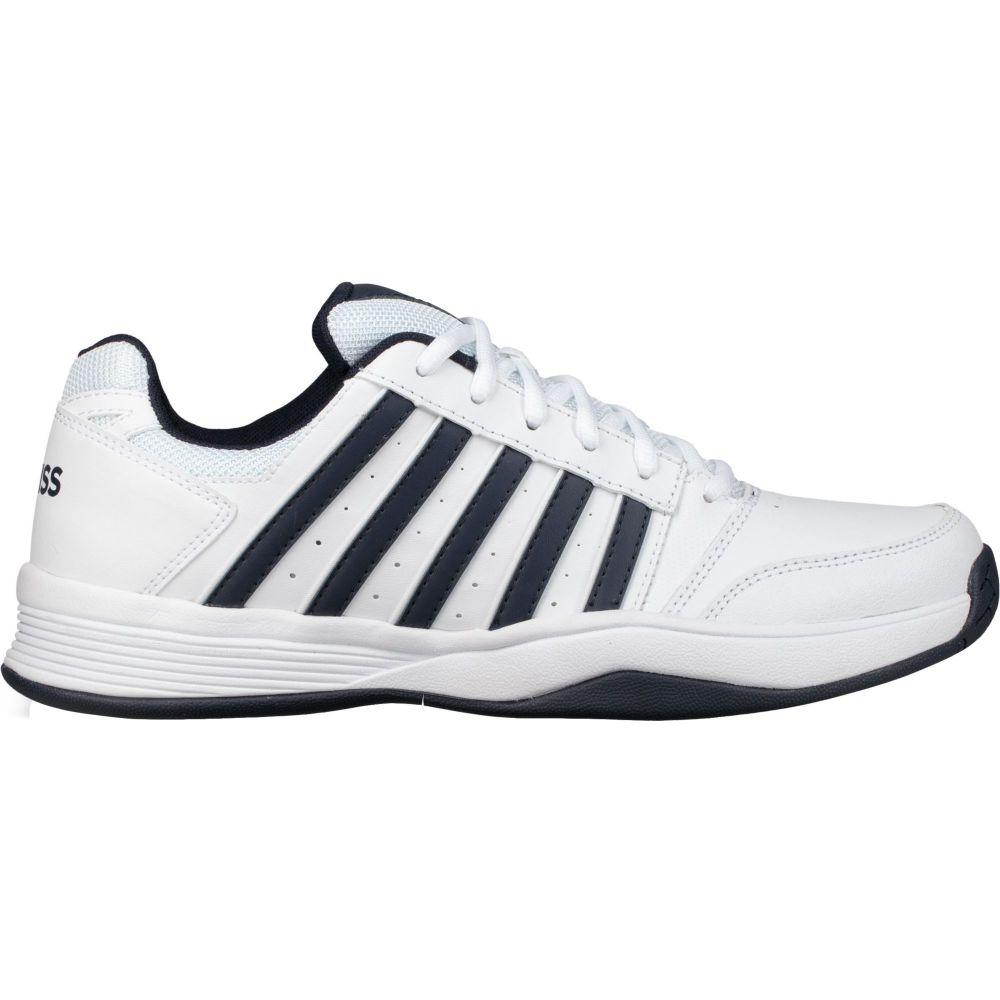 ケースイス K-Swiss メンズ テニス シューズ・靴【Court Smash Tennis Shoes】White/Navy