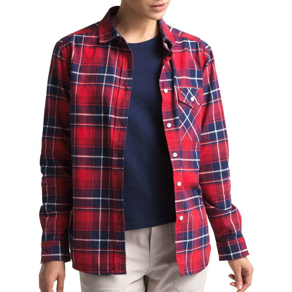 ザ ノースフェイス The North Face レディース トップス 【Boyfriend Long Sleeve Shirt】Tnf Red Berkeley Twll Pld