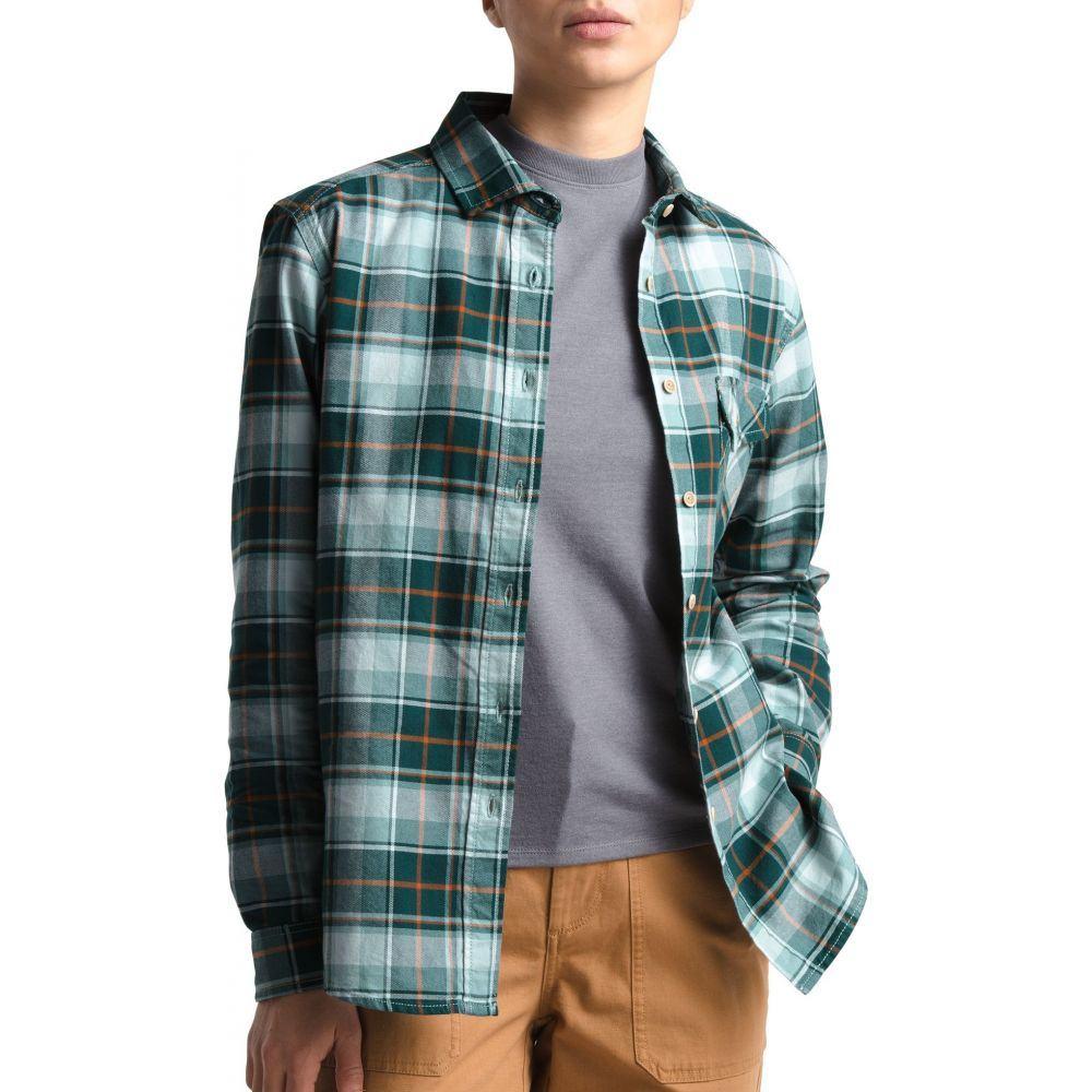 ザ ノースフェイス The North Face レディース トップス 【Boyfriend Long Sleeve Shirt】Pndrsa Grn Brkly Twll Pld