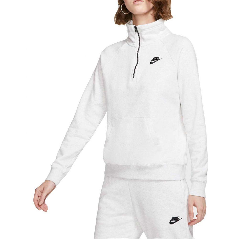 ナイキ Nike レディース フリース ハーフジップ トップス【Sportswear Essential Quarter Zip Fleece Pullover】Birch Heather