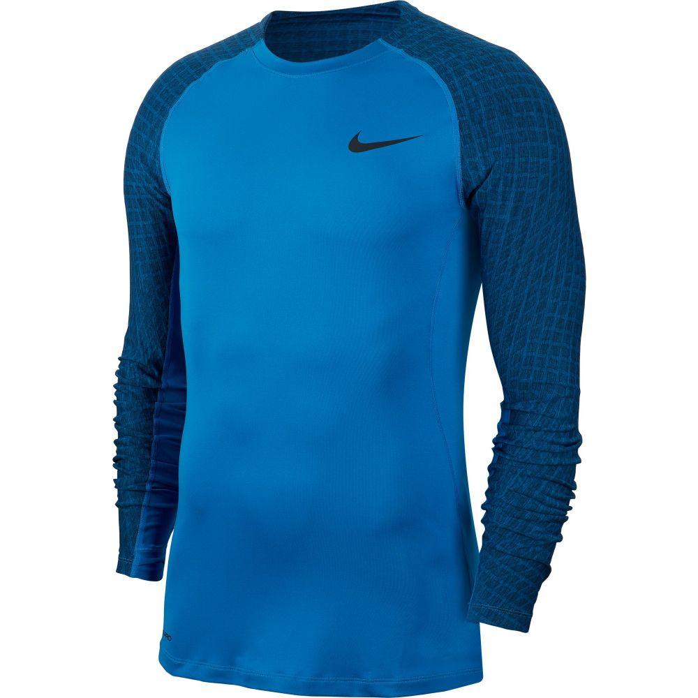 ナイキ Nike メンズ フィットネス・トレーニング トップス【Pro Training Long Sleeve Shirt】Battle Blue/Black