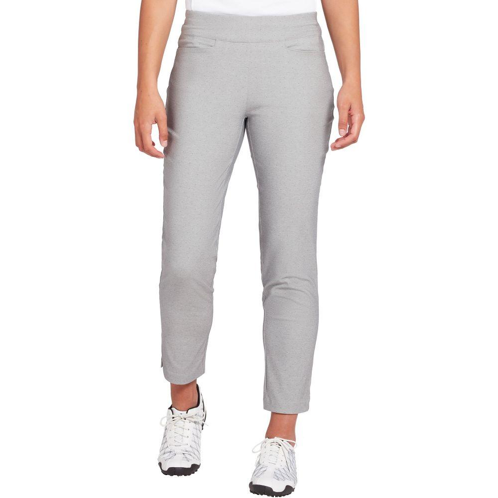レディー ハーゲン Lady Hagen レディース ゴルフ ボトムス・パンツ【Hagen Printed Tummy Control Pull-On Golf Pants】LT Heather グレー