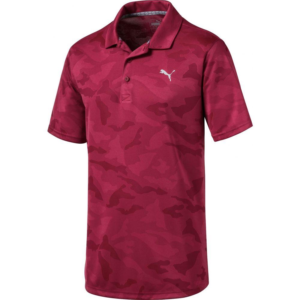 プーマ PUMA メンズ ゴルフ ポロシャツ トップス【Alterknit Camo Golf Polo】Rhubarb