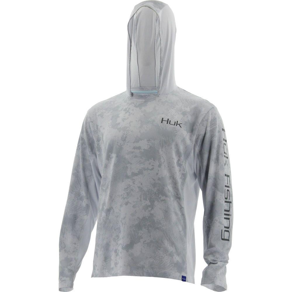 ハック HUK メンズ 釣り・フィッシング トップス【Huk Icon X Camo Long Sleeve Hooded Fishing Shirt (Regular and Big & Tall)】Subphantis Sub Zero