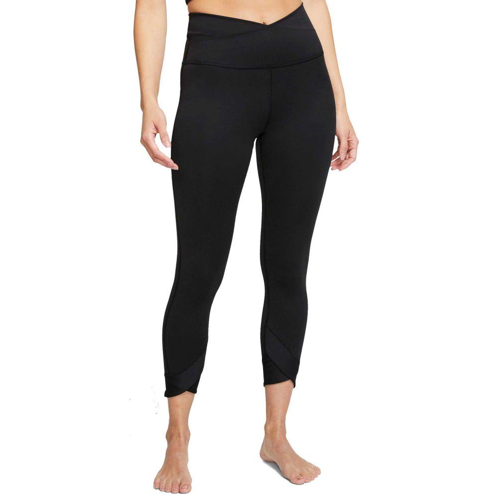 ナイキ Nike レディース ヨガ・ピラティス スパッツ・レギンス ボトムス・パンツ【Yoga Wrap 7/8 Tights】Black
