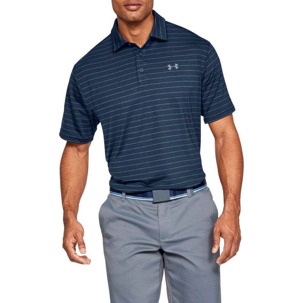 アンダーアーマー Under Armour メンズ ゴルフ ポロシャツ トップス【Playoff 2.0 Tour Stripe Golf Polo】Academy/Pitch Gray