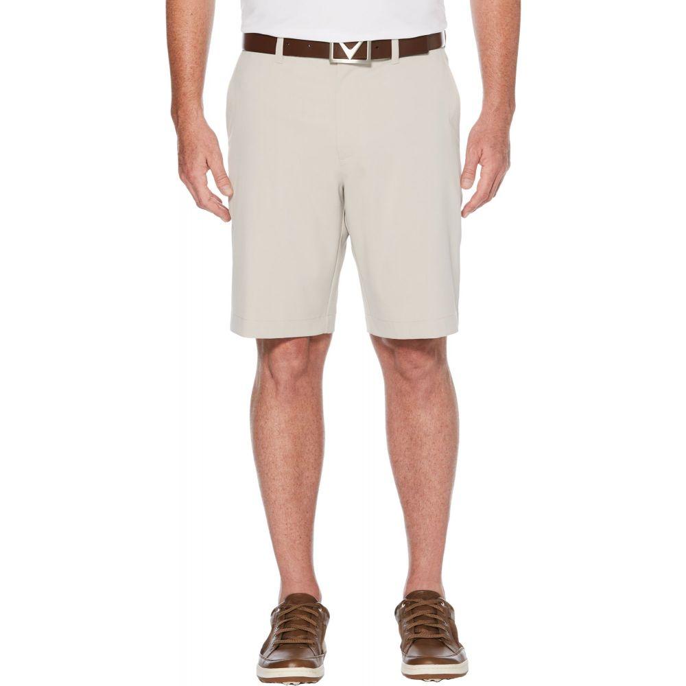 キャロウェイ メンズ ゴルフ ボトムス・パンツ 【サイズ交換無料】 キャロウェイ Callaway メンズ ゴルフ ショートパンツ ボトムス・パンツ【Classic Golf Shorts】Silver Lining