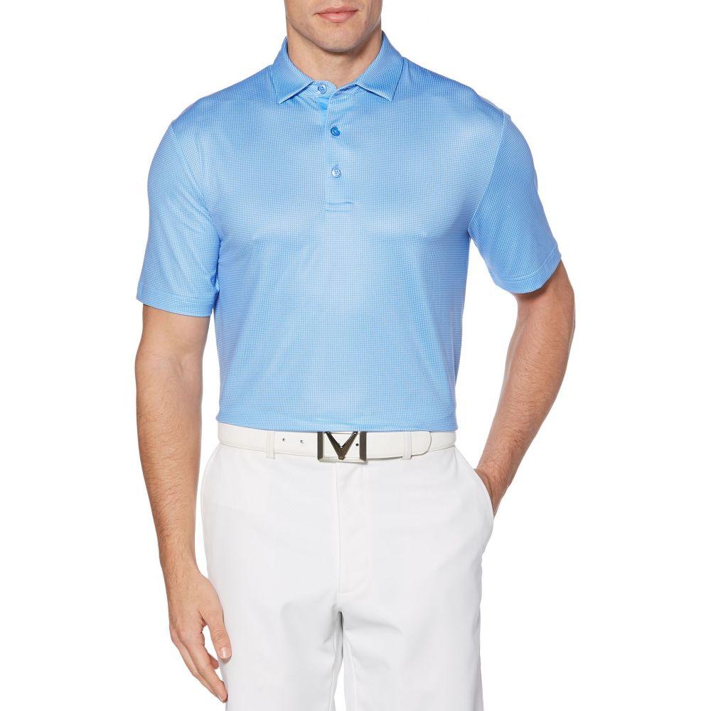 キャロウェイ Callaway メンズ ゴルフ ポロシャツ トップス【Refined Jacquard Golf Polo】Medieval Blue