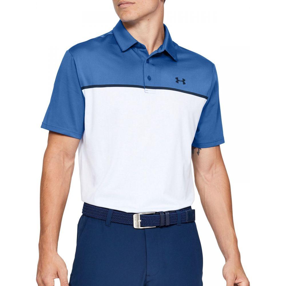 アンダーアーマー メンズ ゴルフ トップス 【サイズ交換無料】 アンダーアーマー Under Armour メンズ ゴルフ ポロシャツ トップス【Playoff 2.0 Golf Polo】Tempest/Mnstne Bl/Academy