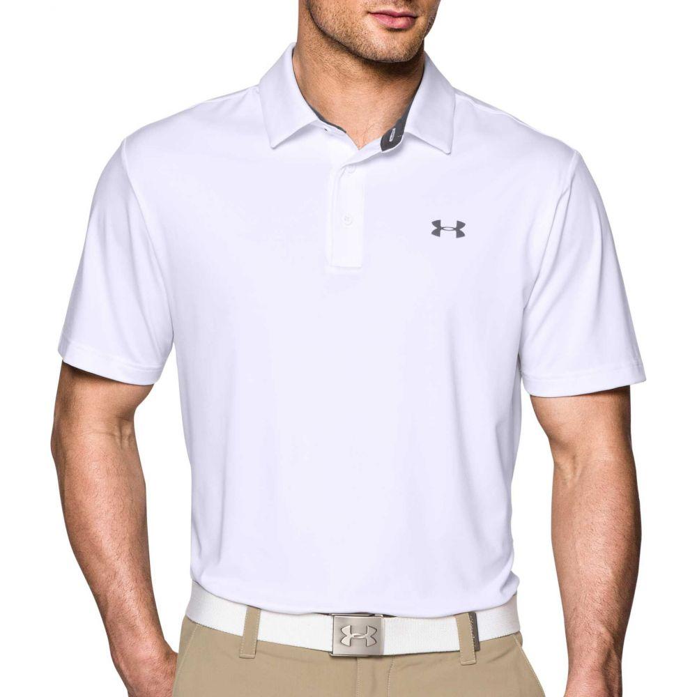 アンダーアーマー Under Armour メンズ ゴルフ 大きいサイズ ポロシャツ トップス【Playoff Golf Polo - Big & Tall】White