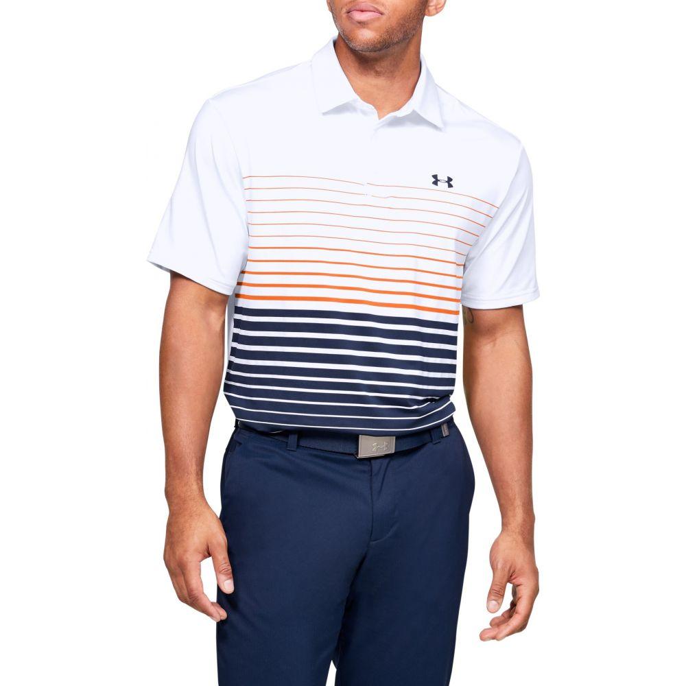 アンダーアーマー Under Armour メンズ ゴルフ ポロシャツ トップス【Playoff 2.0 Stripe Golf Polo】White/Academy