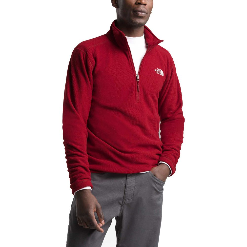 ザ ノースフェイス The North Face メンズ フリース トップス【Textured Cap Rock 1/4 Zip Pullover】Cardinal Red