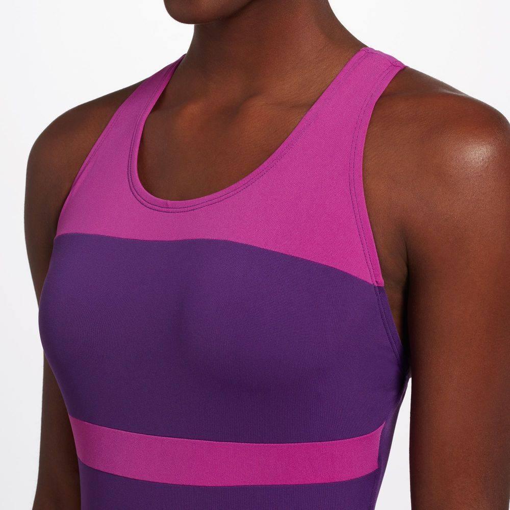 ドルフィン Dolfin レディース ワンピース 水着・ビーチウェア Conservative Color Block Swimsuit Purple Violetwvmn80N