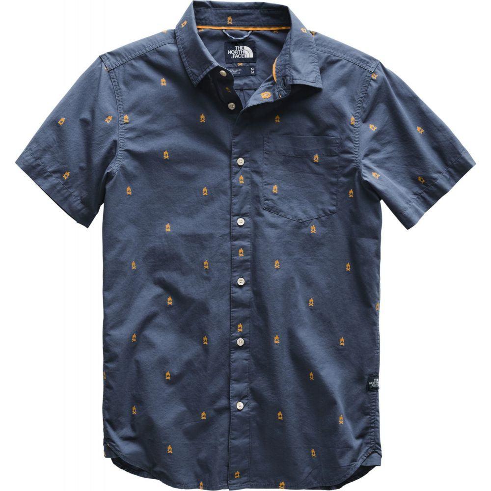 ザ ノースフェイス The North Face メンズ トップス 【Baytrail Jaquard Short Sleeve Shirt】Shady Blue Campfire Jacqd