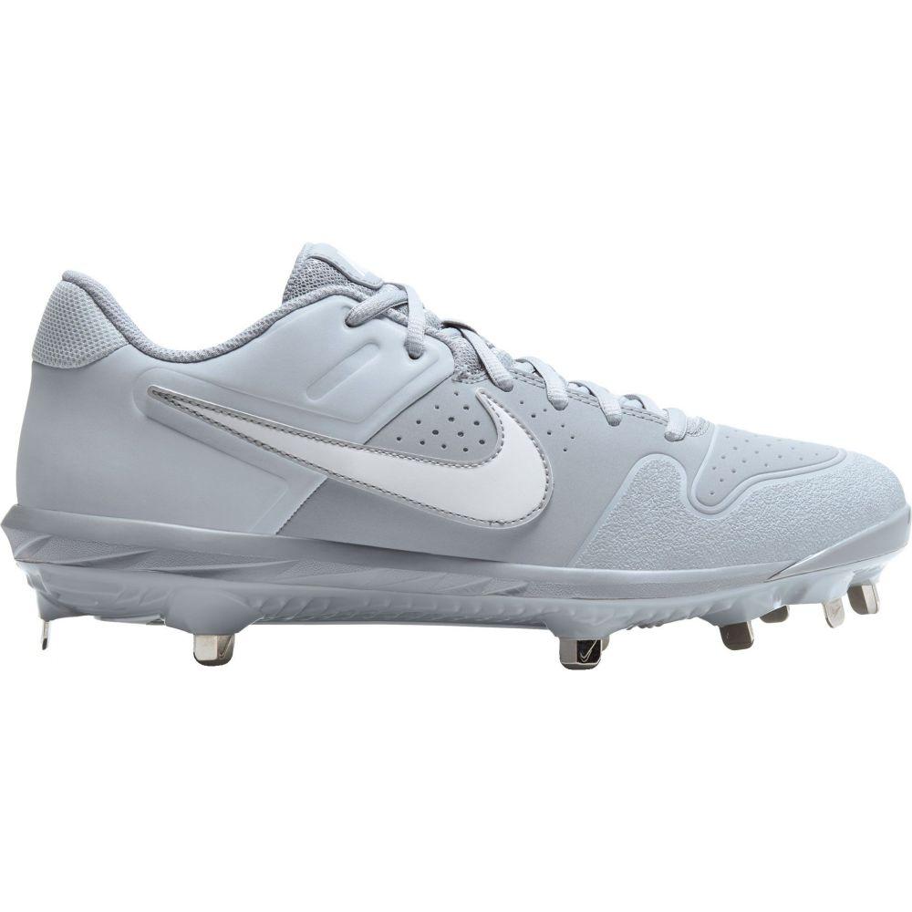 ナイキ Nike メンズ 野球 スパイク シューズ・靴【Alpha Huarache Varsity Metal Baseball Cleats】Grey/White