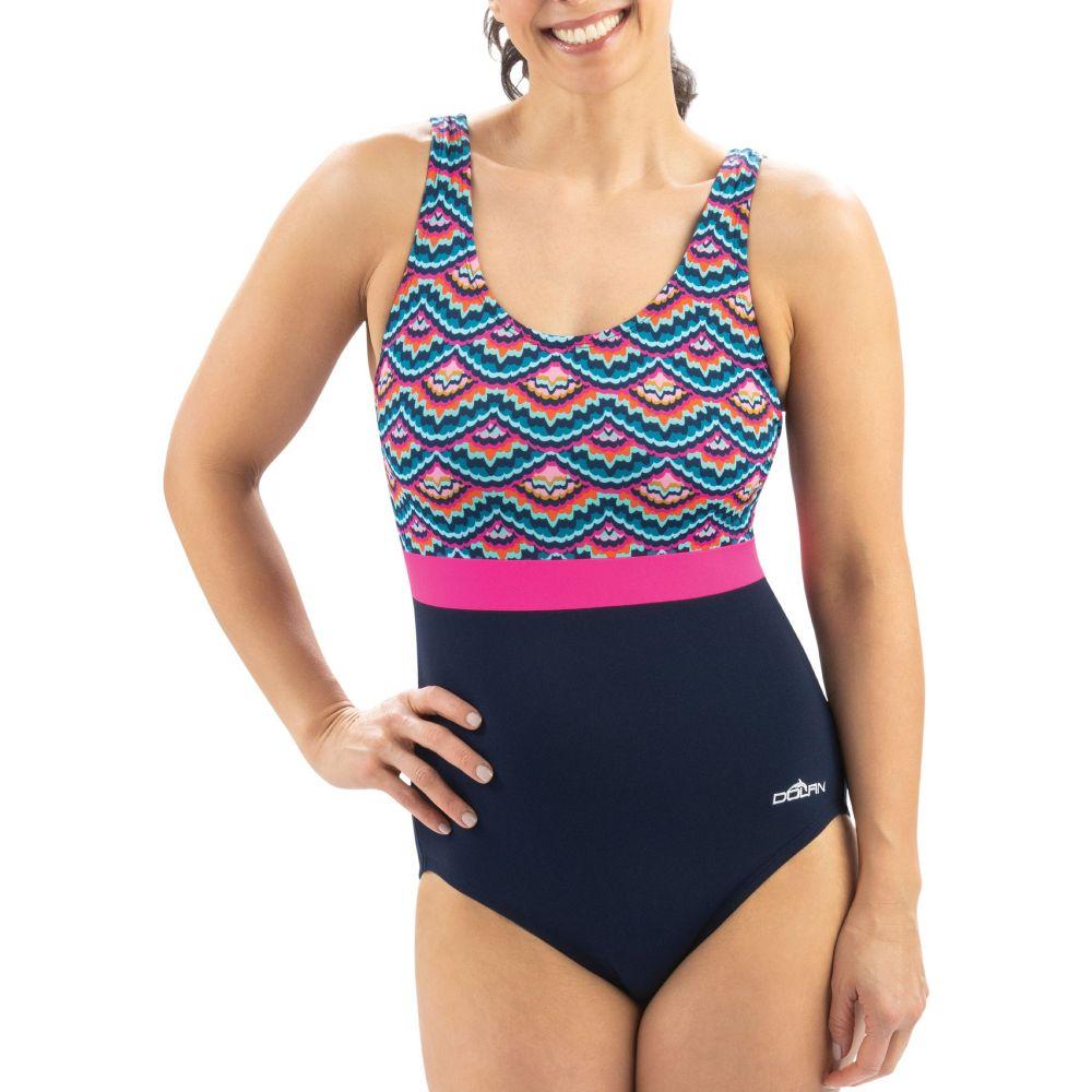 ドルフィン Dolfin レディース ワンピース 水着・ビーチウェア【Aquashape Moderate Scoop Back One Piece Swimsuit】Feathers