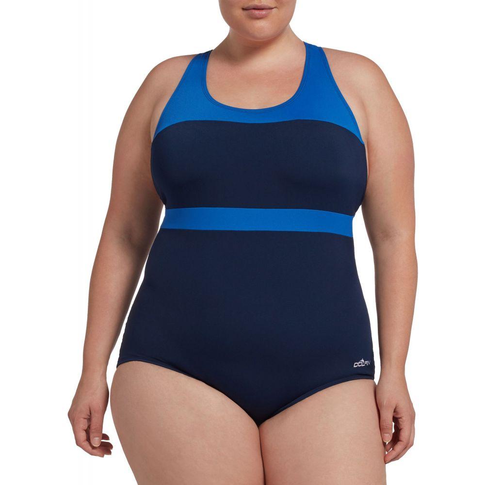 ドルフィン Dolfin レディース ワンピース 水着・ビーチウェア【Conservative Color-Block Swimsuit】Navy/Royal