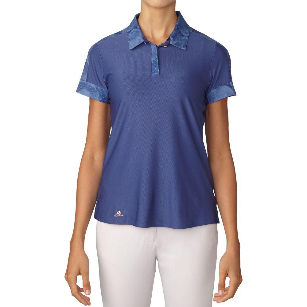 アディダス adidas レディース ゴルフ ポロシャツ トップス【Sport Print Golf Polo】Raw 紫の
