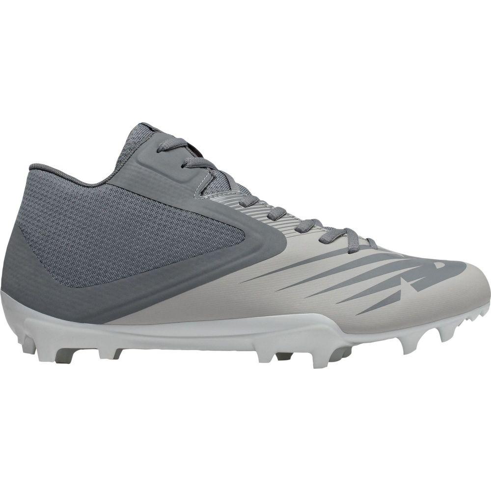 ニューバランス New Balance メンズ ラクロス スパイク シューズ・靴【Rush V2 Mid Lacrosse Cleats】Gray/White