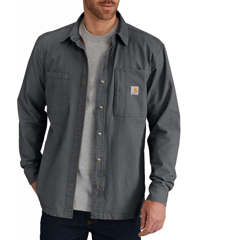 カーハート Carhartt メンズ ジャケット シャツジャケット アウター【Rugged Flex Rigby Fleece-Lined Shirt Jacket】Shadow